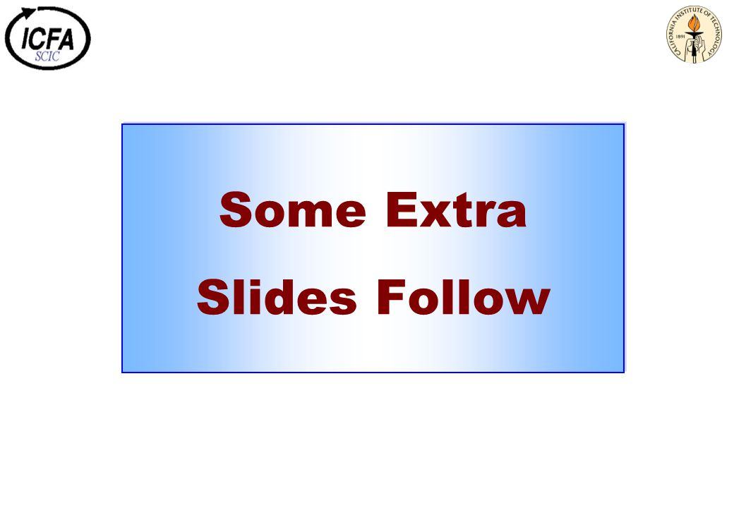 Some Extra Slides Follow