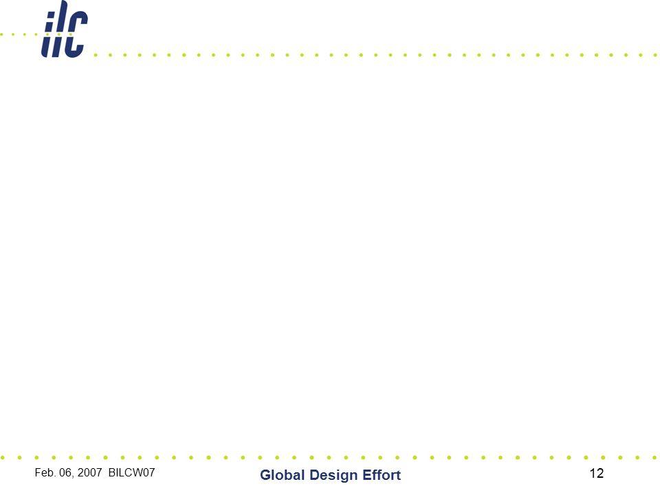 Feb. 06, 2007 BILCW07 Global Design Effort 12
