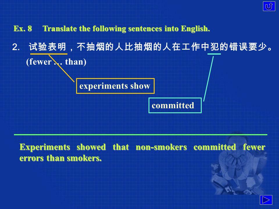Ex. 8Translate the following sentences into English.