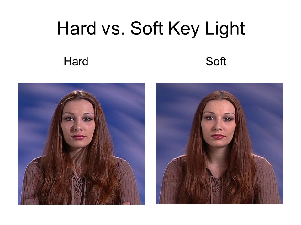 Hard vs. Soft Key Light Hard Soft