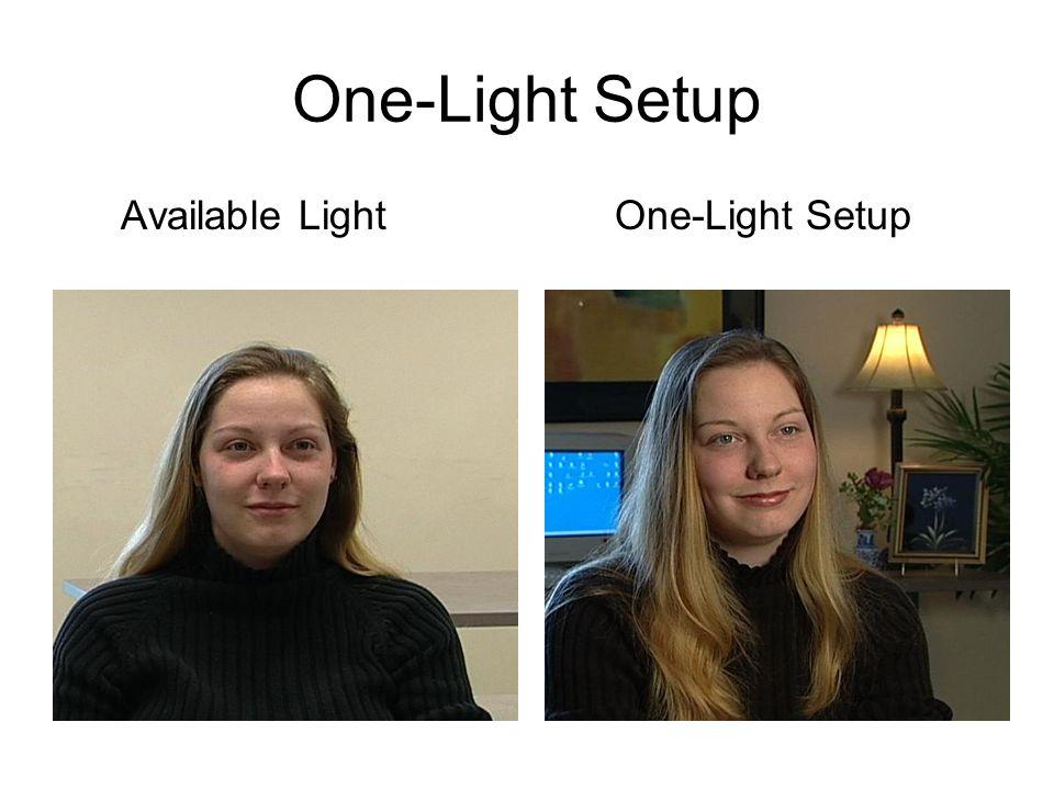 One-Light Setup Available Light One-Light Setup