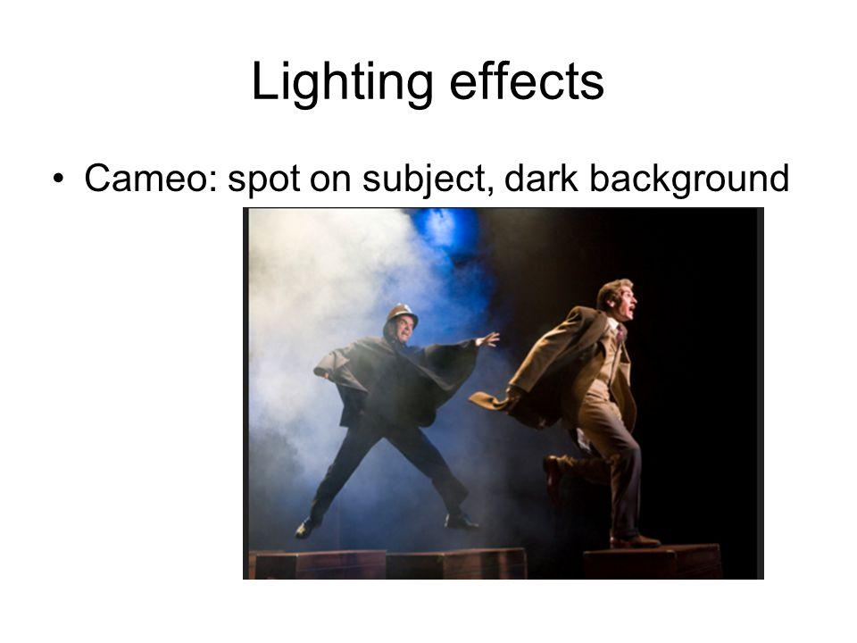 Lighting effects Cameo: spot on subject, dark background