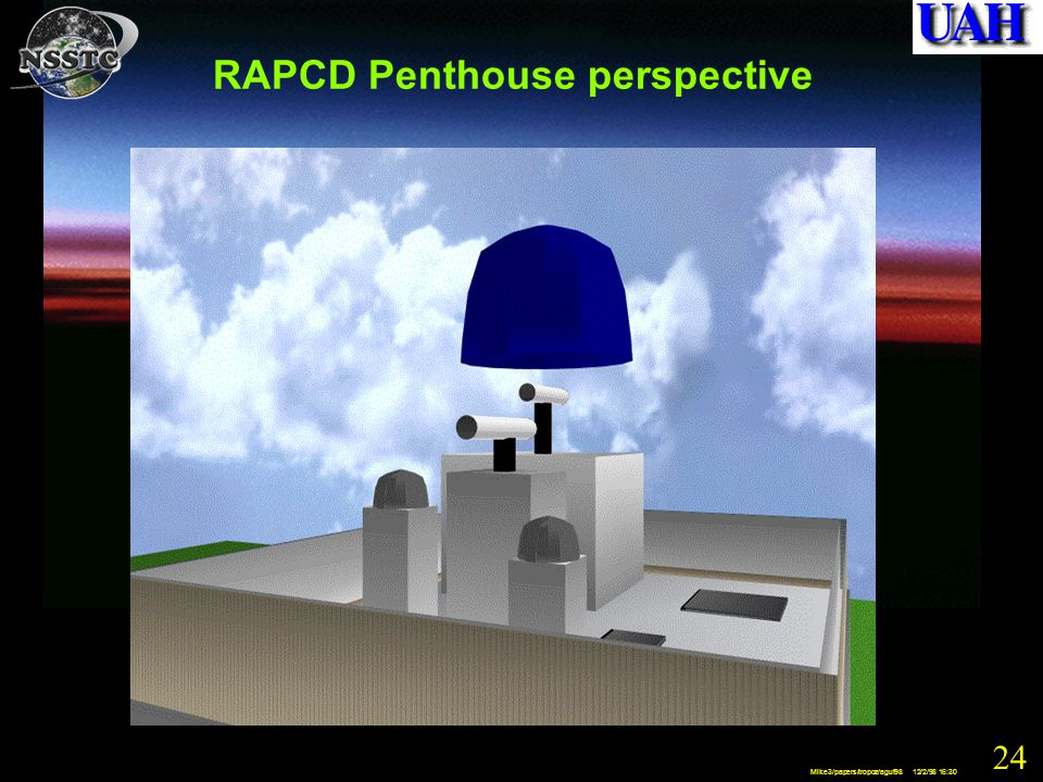 24 Mike3/papers/tropoz/aguf98 12/2/98 16:30 RAPCD Penthouse perspective