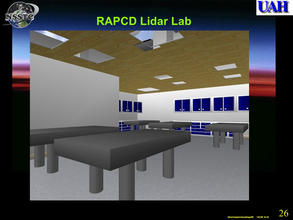 26 Mike3/papers/tropoz/aguf98 12/2/98 16:30 RAPCD Lidar Lab
