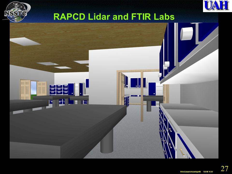 27 Mike3/papers/tropoz/aguf98 12/2/98 16:30 RAPCD Lidar and FTIR Labs