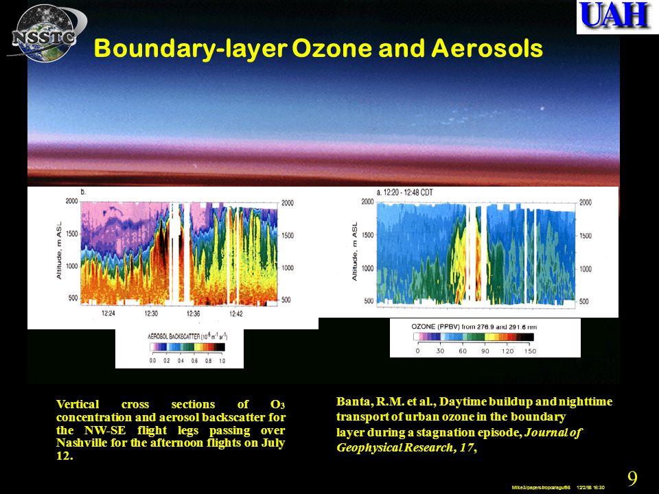 20 Mike3/papers/tropoz/aguf98 12/2/98 16:30 Huntsville Ozonesonde Station