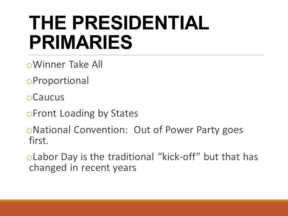 Campaigning in primaries