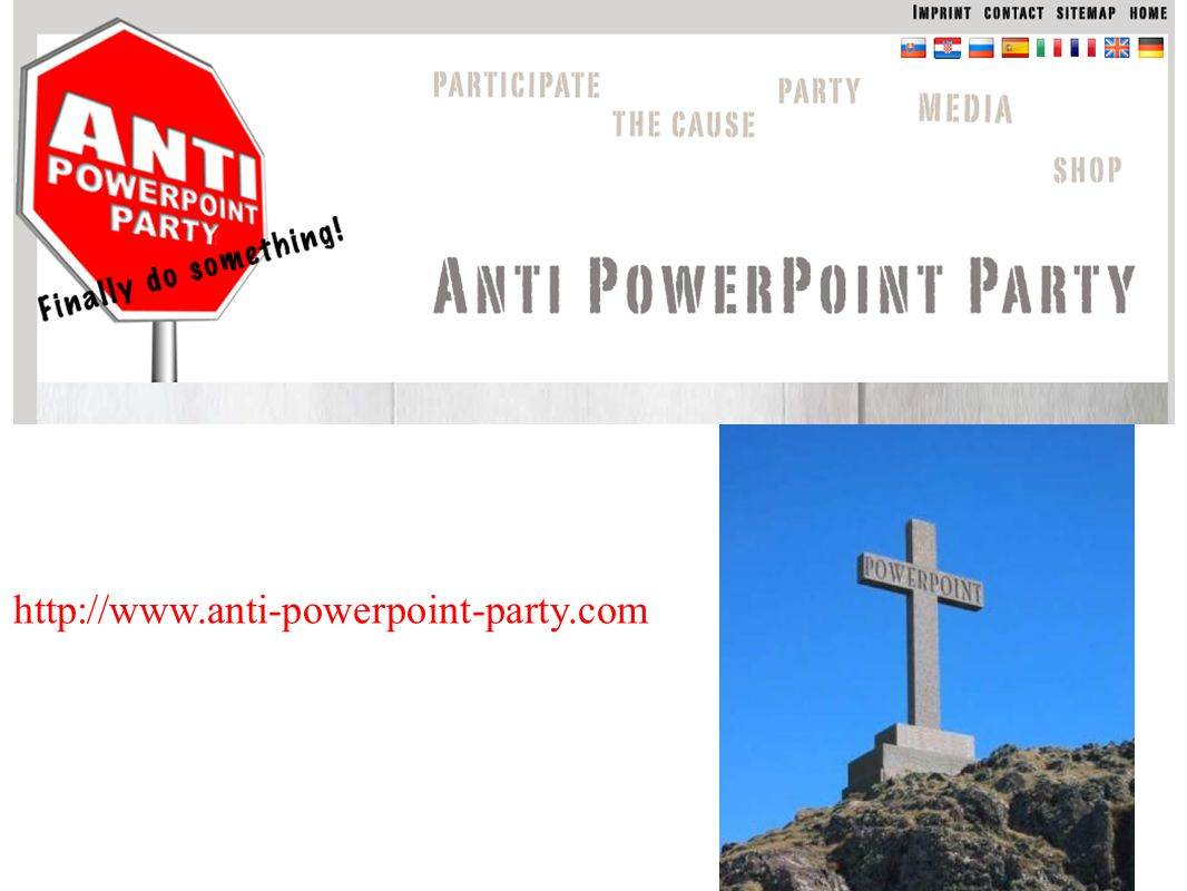 http://www.anti-powerpoint-party.com
