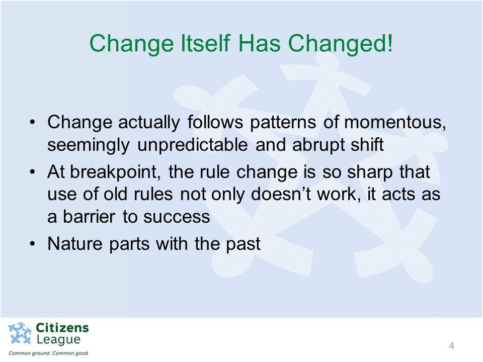 Change Itself Has Changed.