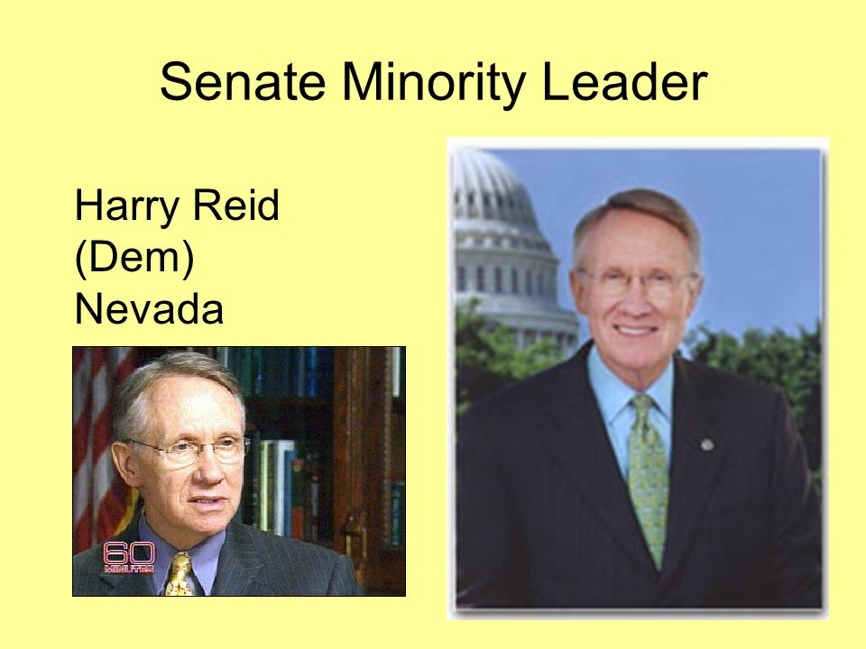 Senate Minority Leader Harry Reid (Dem) Nevada