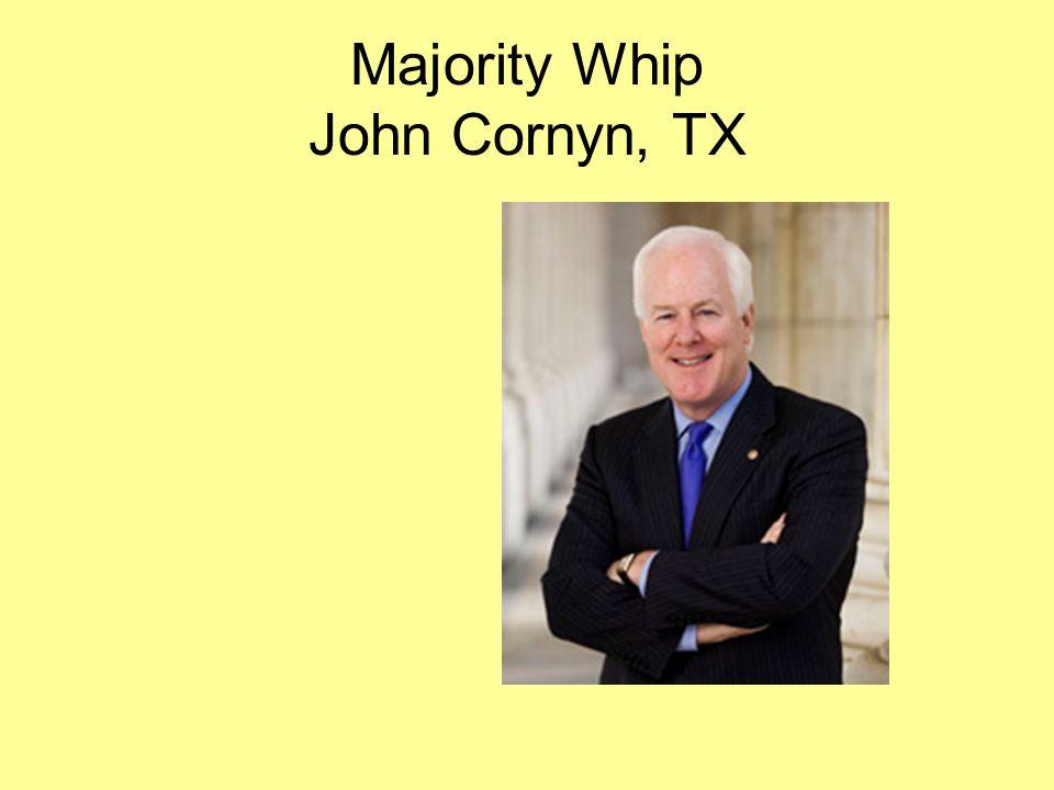 Majority Whip John Cornyn, TX