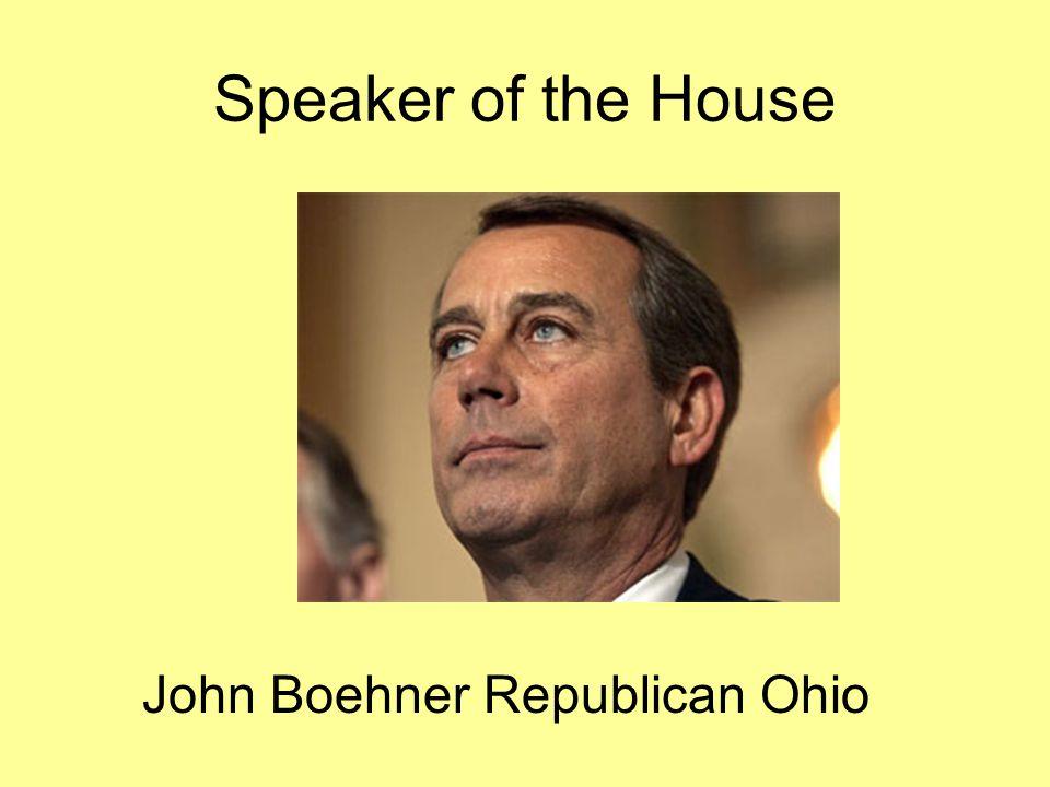 John Boehner Republican Ohio Speaker of the House