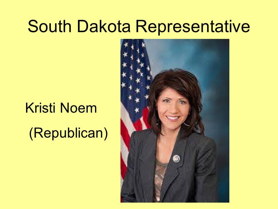 South Dakota Representative Kristi Noem (Republican)