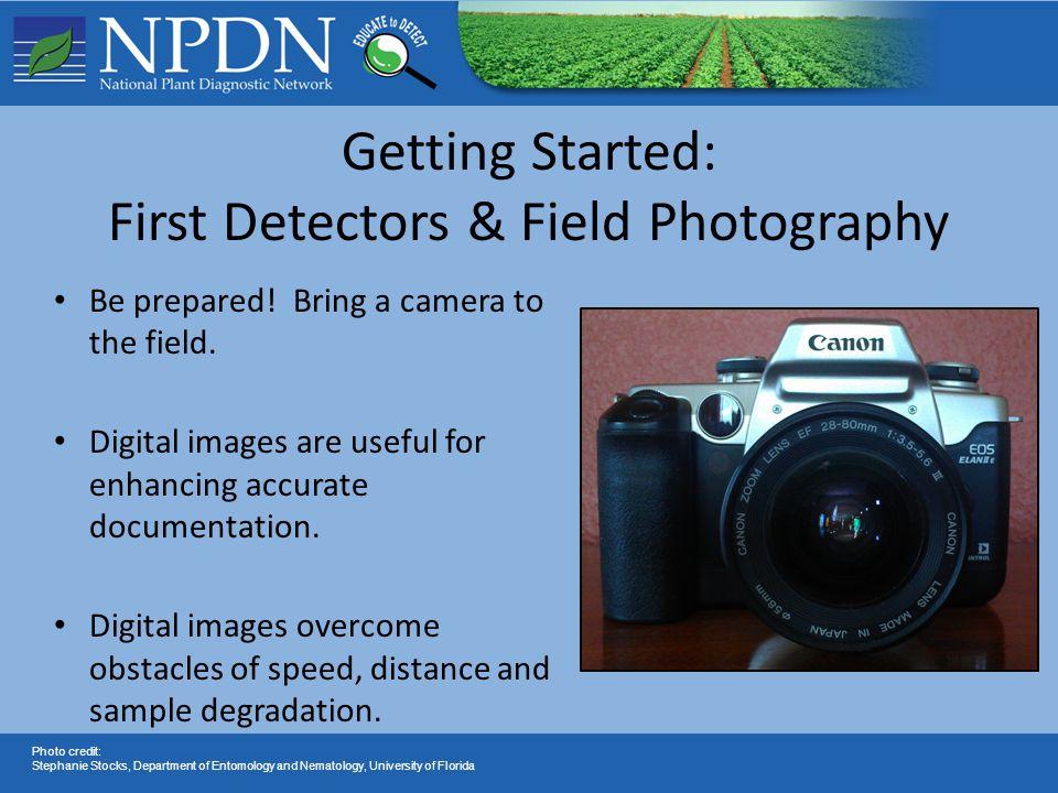 'Point and Shoot' Camera Options Digital SLR Camera Photo credit: Stephanie Stocks, Department of Entomology and Nematology, University of Florida