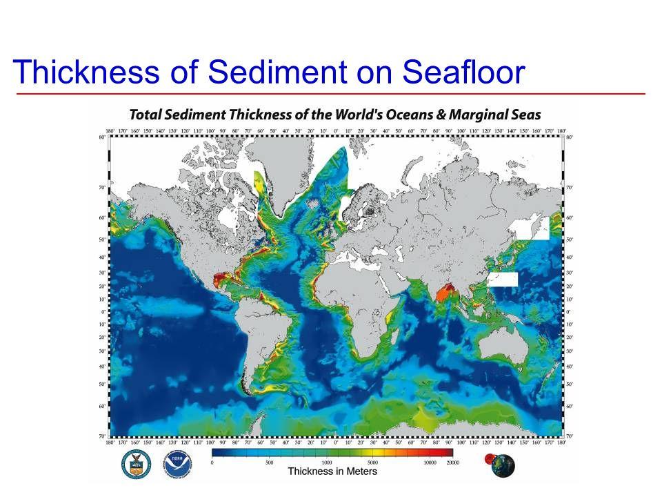 Thickness of Sediment on Seafloor