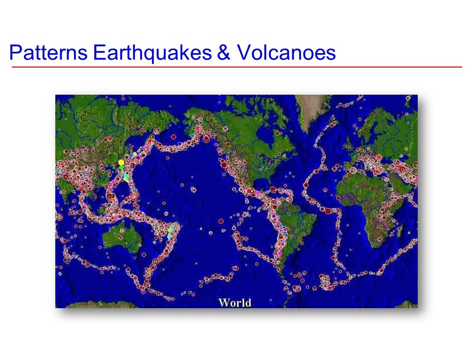 Patterns Earthquakes & Volcanoes