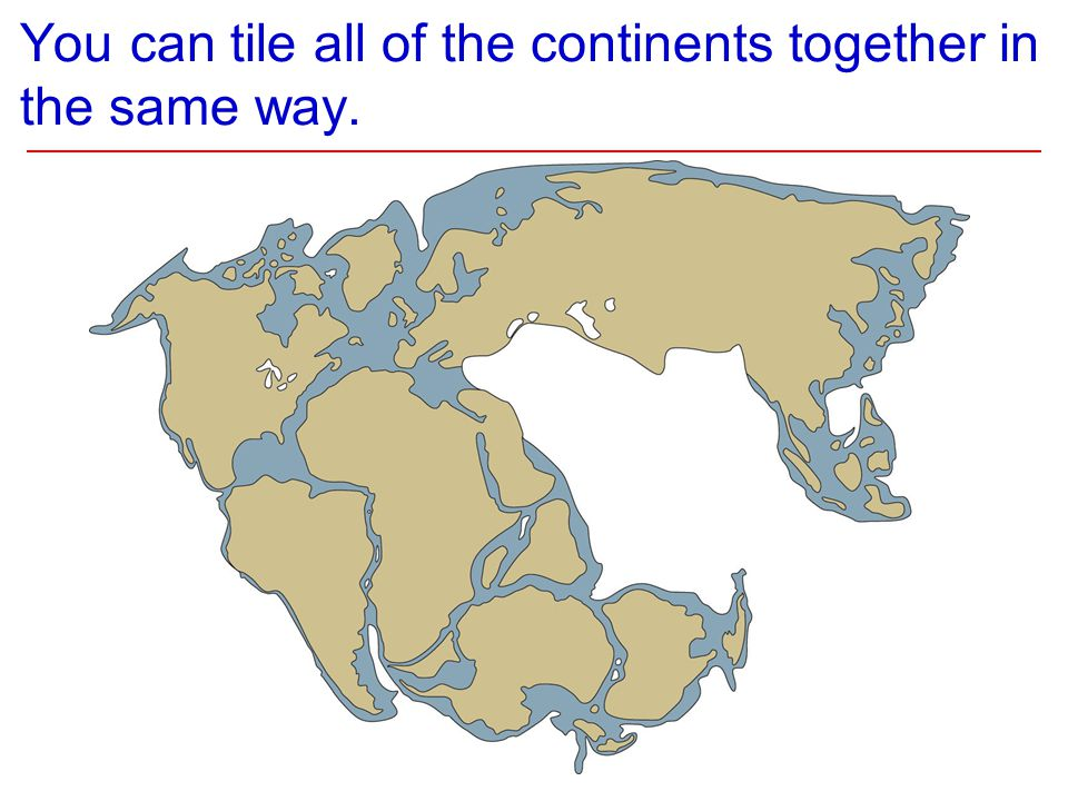 You can tile all of the continents together in the same way.