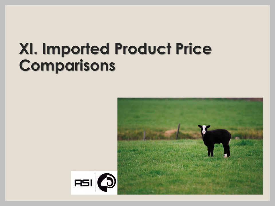 XI. Imported Product Price Comparisons