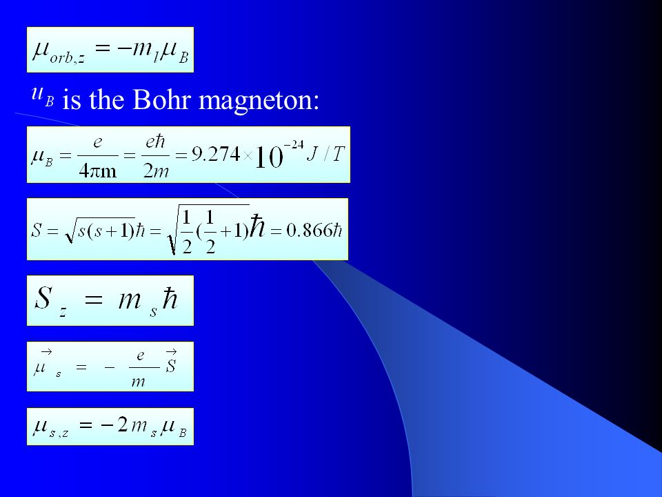 REVIEW & SUMMARY Some Properties of Atoms Angular Momenta and Magnetic Dipole Moments an orbital magnetic dipole moment