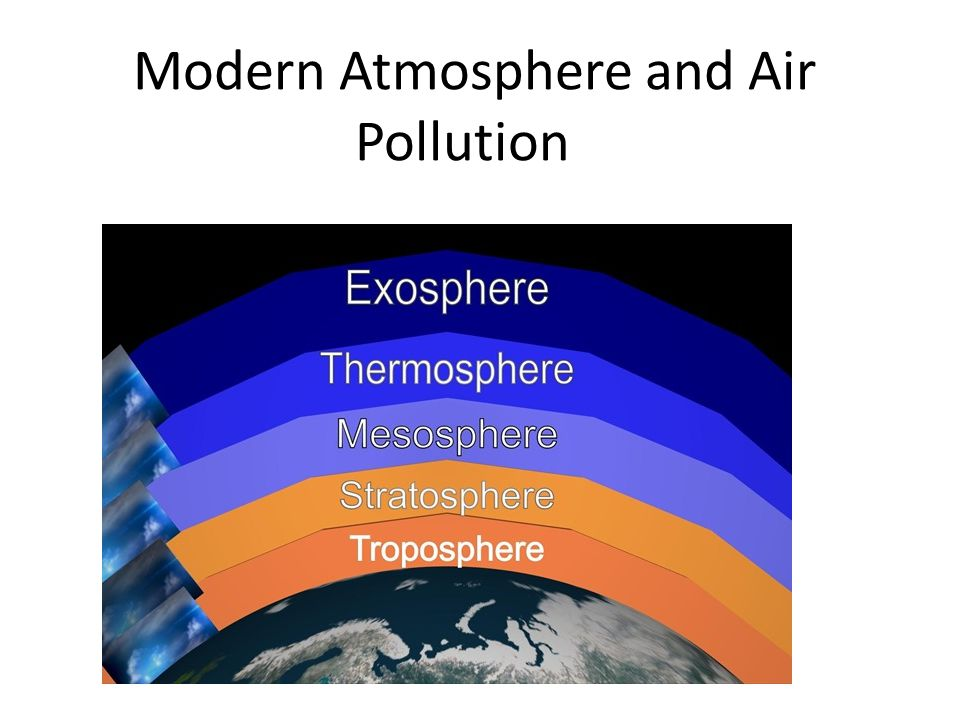 Atmospheric Temperature Criterion Troposphere – the region of principal weather activity, 90% of the atmosphere.
