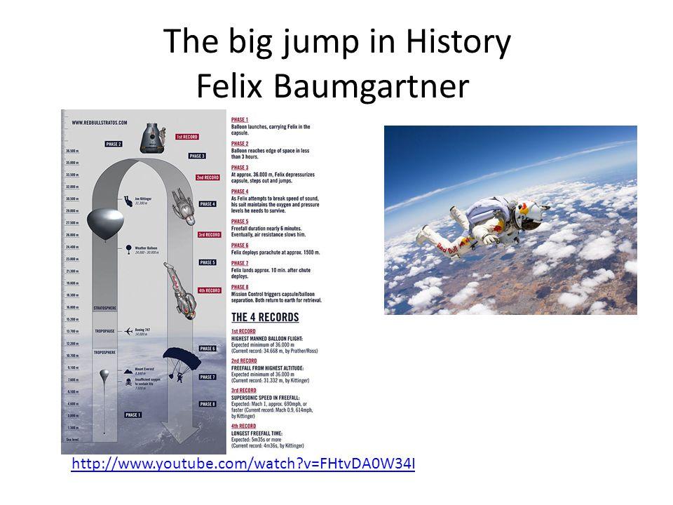 The big jump in History Felix Baumgartner http://www.youtube.com/watch?v=FHtvDA0W34I