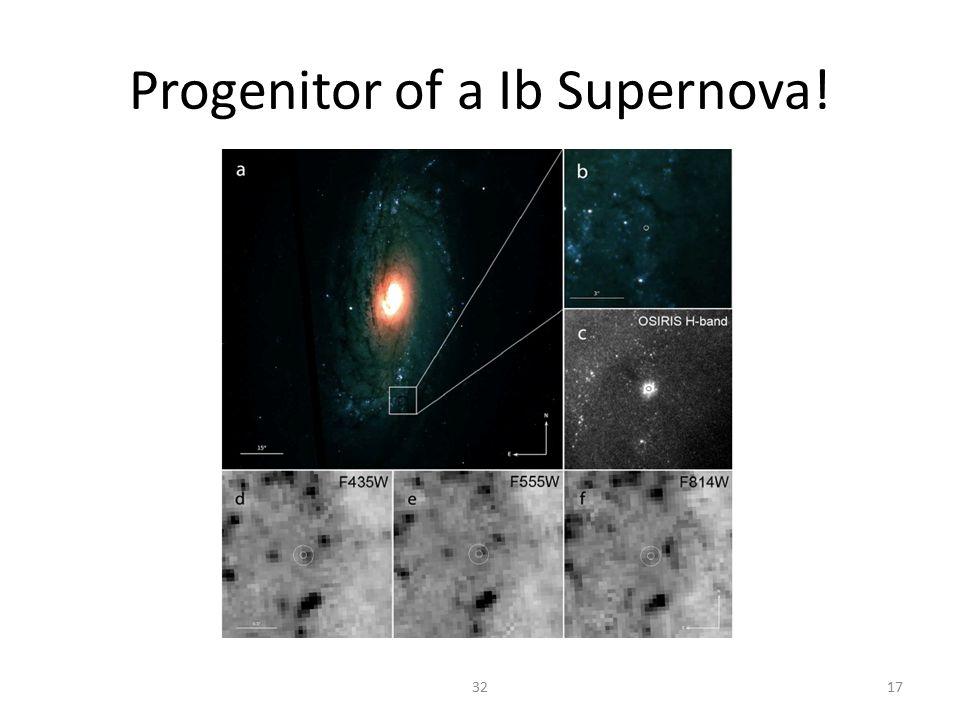 Progenitor of a Ib Supernova! 3217