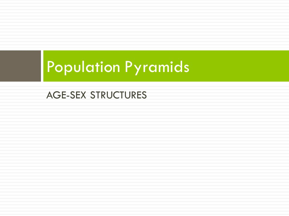AGE-SEX STRUCTURES Population Pyramids