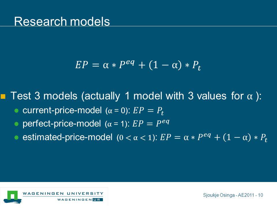 Research models Sjoukje Osinga - AE2011 - 10