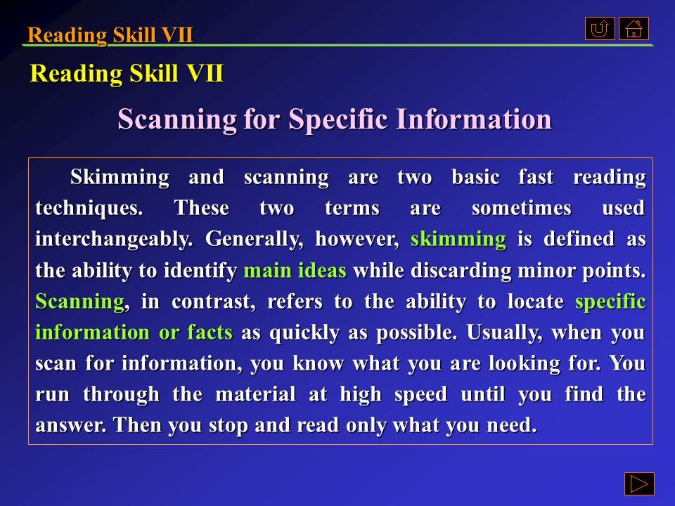 Reading Skill VII Ex. B, p. 260 《读写教程 I 》 : Ex. B, p. 260