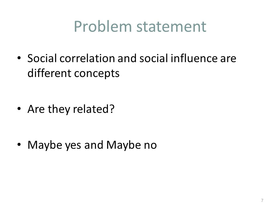 Social correlation and social influence are different concepts Are they related.