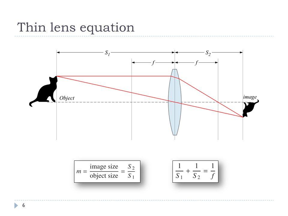 Thin lens equation 6