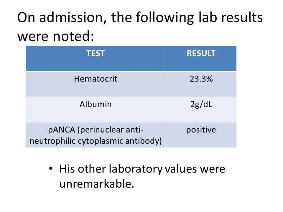 The patient was admitted to the hospital and treated with steroid therapy.