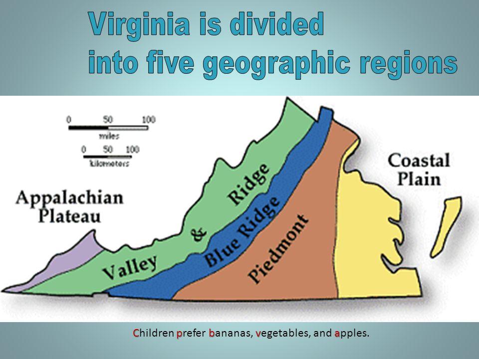 The Piedmont Region has rolling hills.