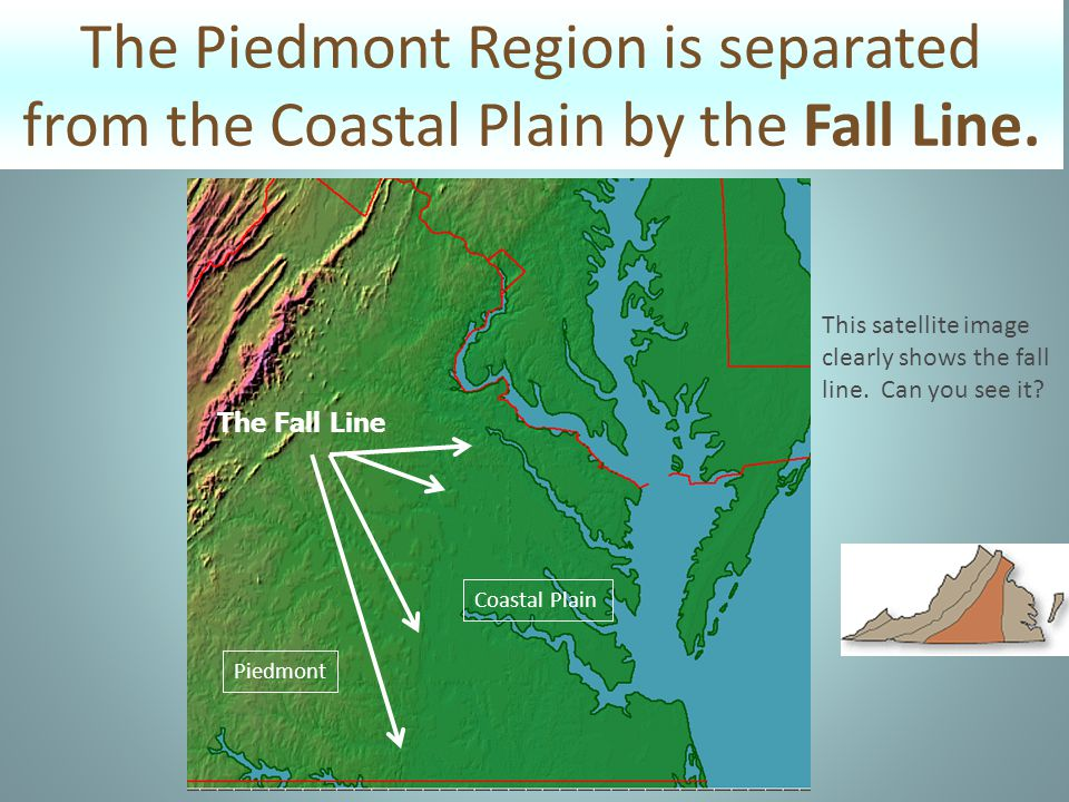 What are the characteristics of the Piedmont.
