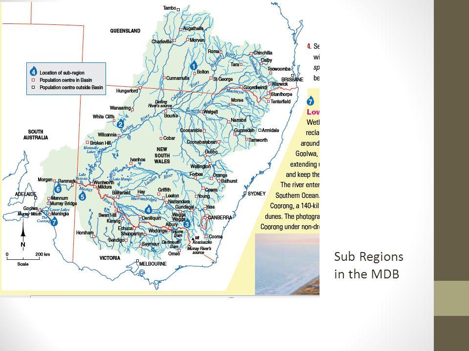Sub Regions in the MDB