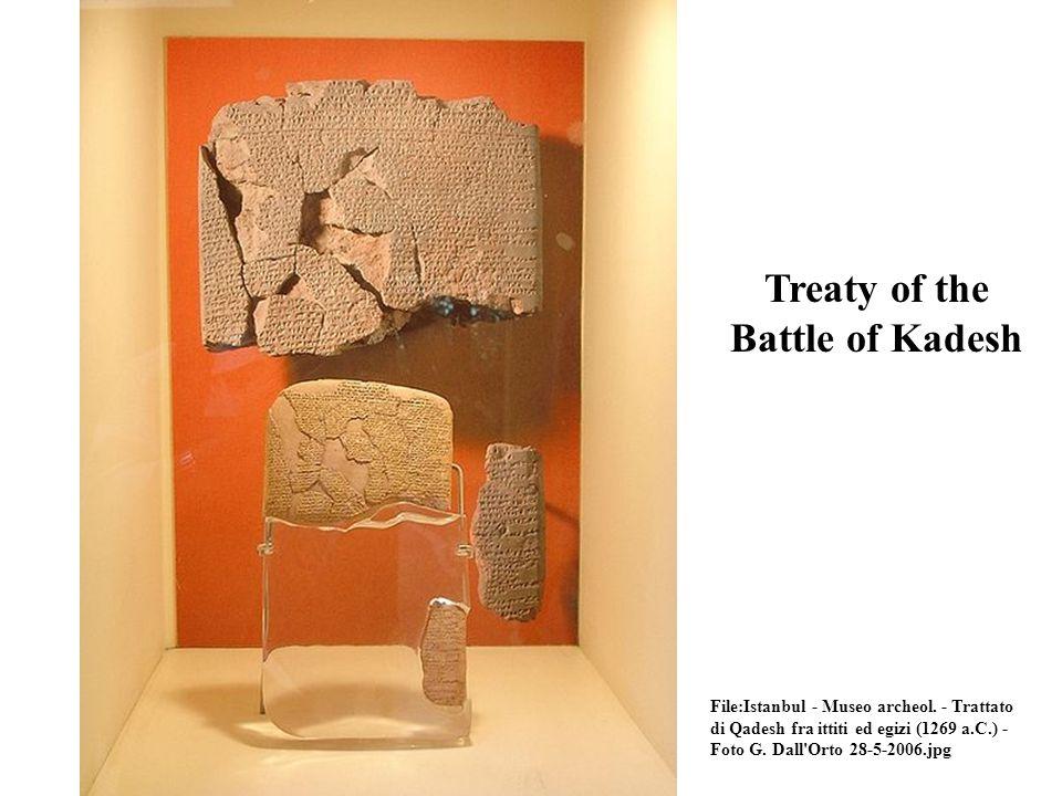 Treaty of the Battle of Kadesh File:Istanbul - Museo archeol.
