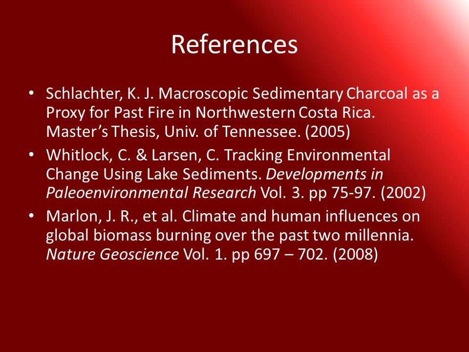 References Schlachter, K. J.