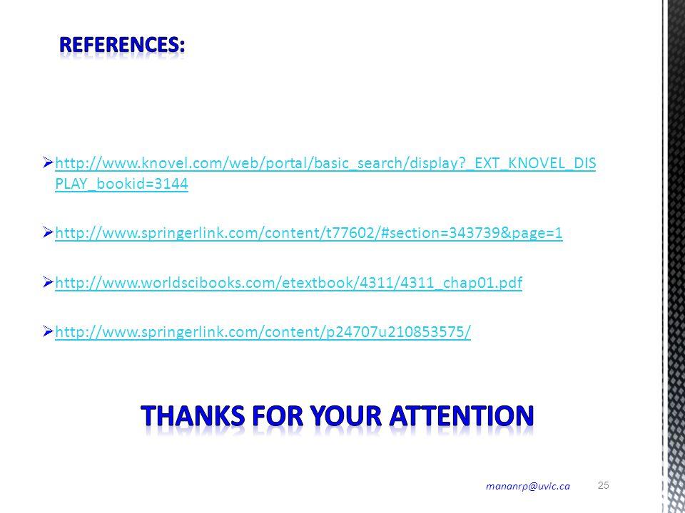 25 mananrp@uvic.ca  http://www.knovel.com/web/portal/basic_search/display?_EXT_KNOVEL_DIS PLAY_bookid=3144 http://www.knovel.com/web/portal/basic_sea