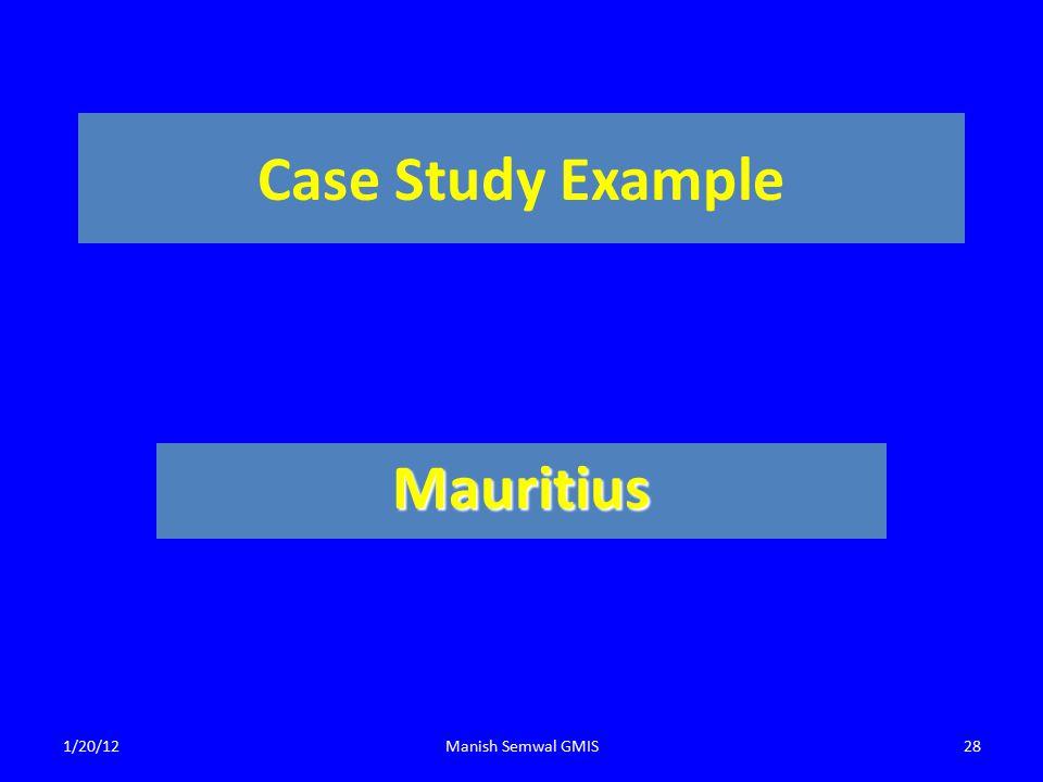 Case Study Example Mauritius 1/20/12Manish Semwal GMIS28