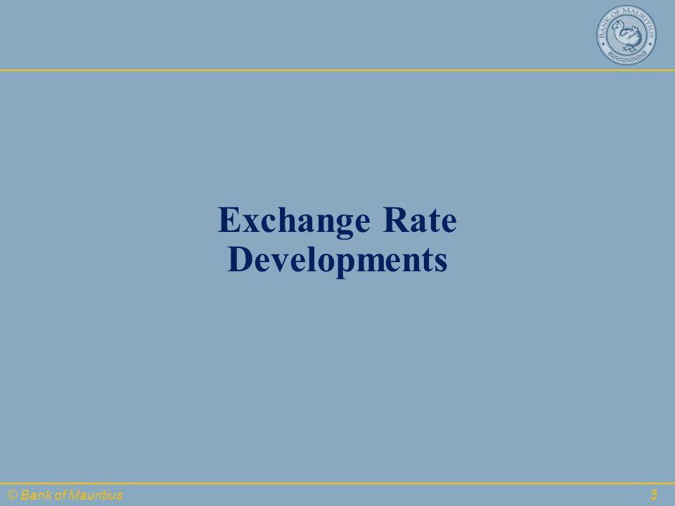 © Bank of Mauritius Exchange Rate Developments 5