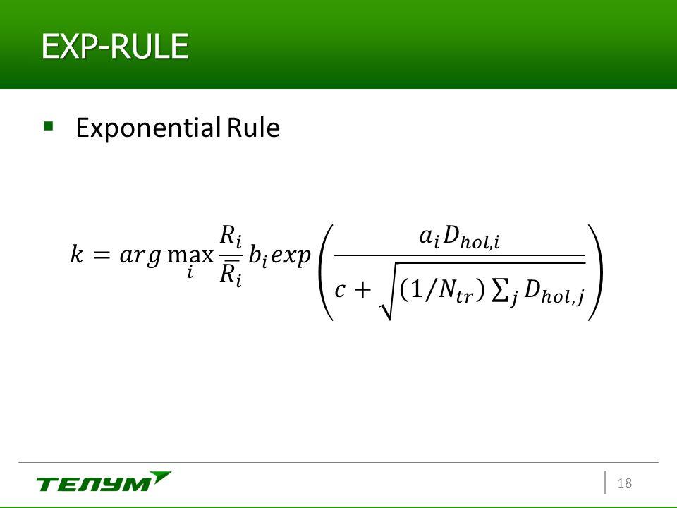 EXP-RULE 18  Exponential Rule