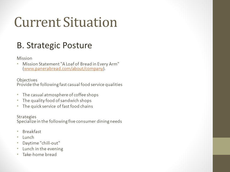 Current Situation B. Strategic Posture Mission Mission Statement