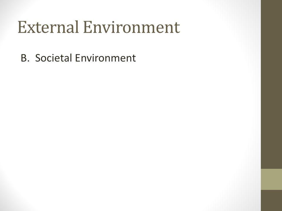 External Environment B. Societal Environment