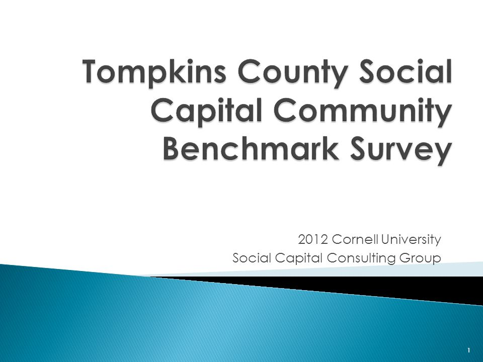 2012 Cornell University Social Capital Consulting Group 1