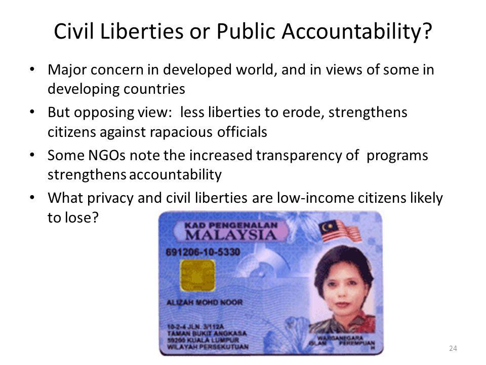 Civil Liberties or Public Accountability.