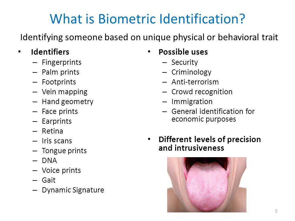 What is Biometric Identification.