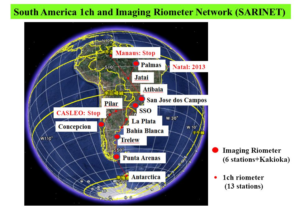 SJC(23.1S) CASLEO(31.5S) PAL(10.2S) TRW(43.2S) PAC(53.1S) EACF(62.1S) KAK(36.2N) 1ch Riometer data 2012 01 27 (00h-24h UT) 00 06 12 18 00 X-ray flare event