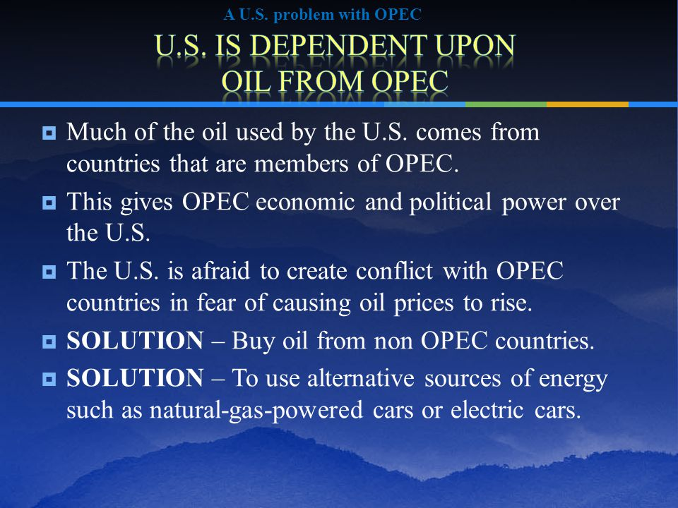  Solution for dangers of drilling in the U.S.and oil prices  The U.S.