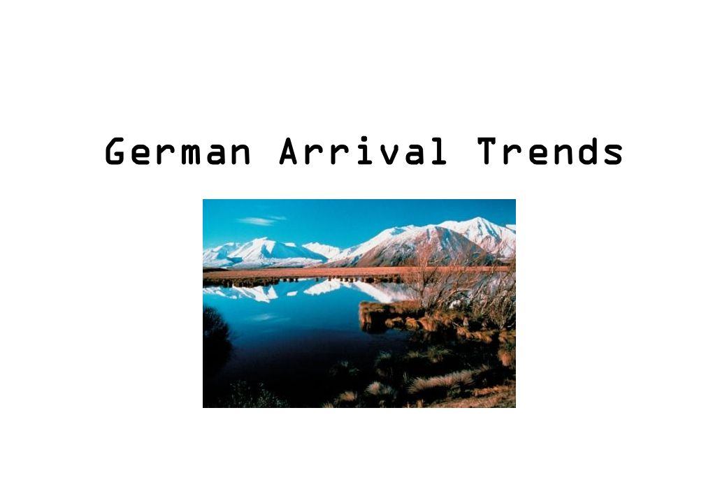 German Arrival Trends