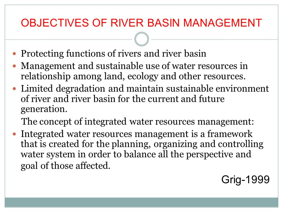 CONTENTS OF WATER RESOURCES MANAGEMENT Water and related factors: 1.